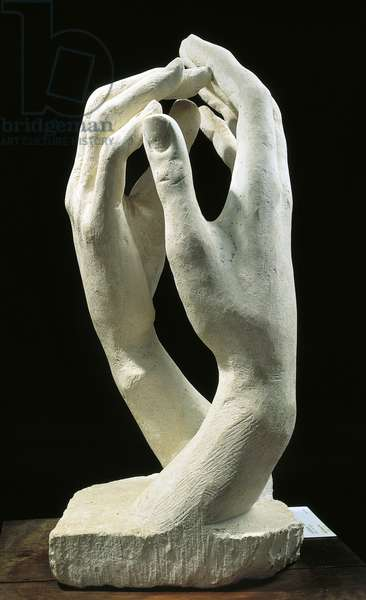 The Cathedral, 1909, by Auguste Rodin (1840-1917), stone sculpture.