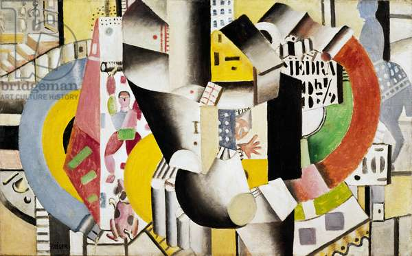 Le Cirque Medrano, 1918, by Fernand Leger (1881-1955), oil on canvas, 58 x 94 cm. France, 20th century.
