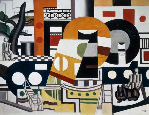 The tug, 1920, by Fernand Leger (1881-1955), oil on canvas. France, 20th century.
