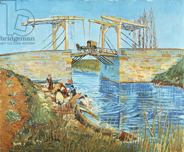 Langlois Bridge, 1888, by Vincent van Gogh (1853-1890)