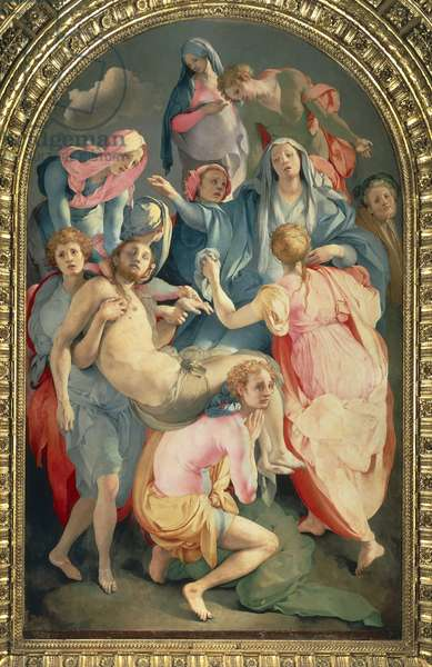 The deposition by Giacomo Carucci known as Pontormo (1494-1557), fresco Church of Santa Felicita, Florence