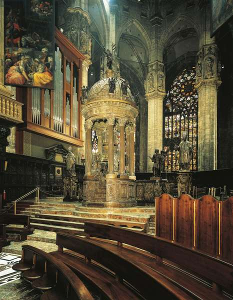 Italy, Milan Cathedral, Presbytery with tabernacle, by Pellegrino Tibaldi known as Pellegrini