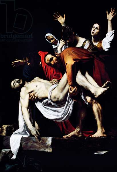 The Entombment of Christ, 1602-1604, by Michelangelo Merisi, known as Caravaggio (1571-1610), oil on canvas, 300x203 cm. Italy, 17th century.