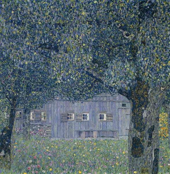 Farmhouse in Upper Austria, 1911 (oil on canvas)