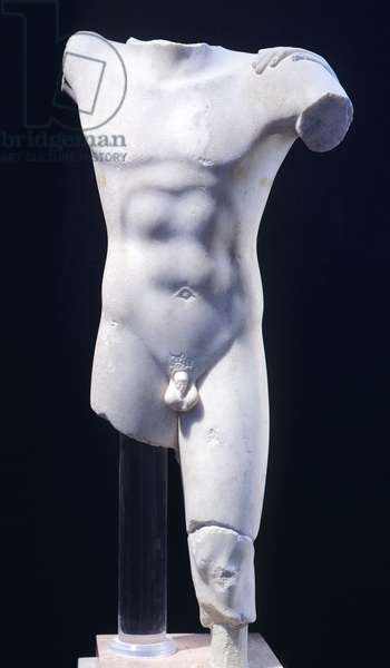 Theseus, statue from the archaic age (Greece). Greek Civilization, 6th Century BC.