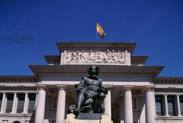 Monument to Diego Velazquez (1599-1660), 1899, by Aniceto Marinas, in front of Prado Museum, Madrid, Spain