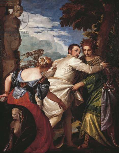 Allegory of Virtue and Vice or Hercules' choice, circa 1580, by Paolo Caliari known as Veronese (1528-1588)