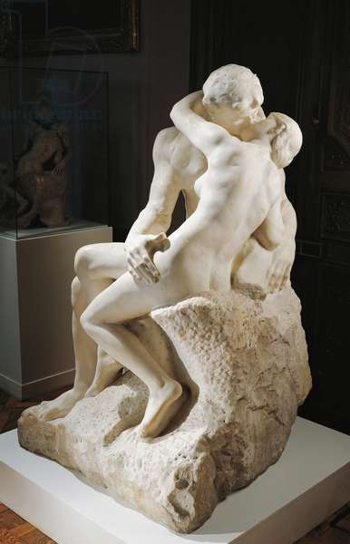 The Kiss, 1888-1889, by Auguste Rodin (1840-1917), marble group.