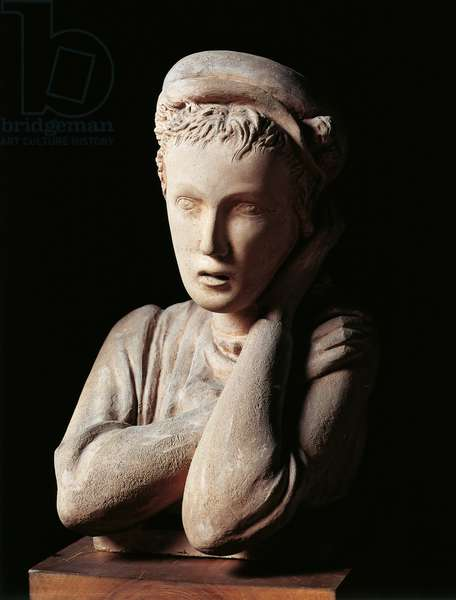 Nena, 1928, terracotta sculpture by Arturo Martini (1889-1947), 51 cm. Italy, 20th century.