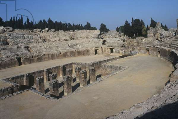 Spain, Andalusia, Roman amphitheater