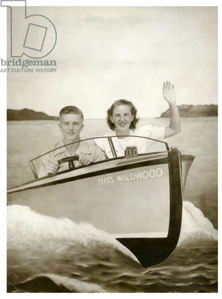 Man and Woman in a boat called