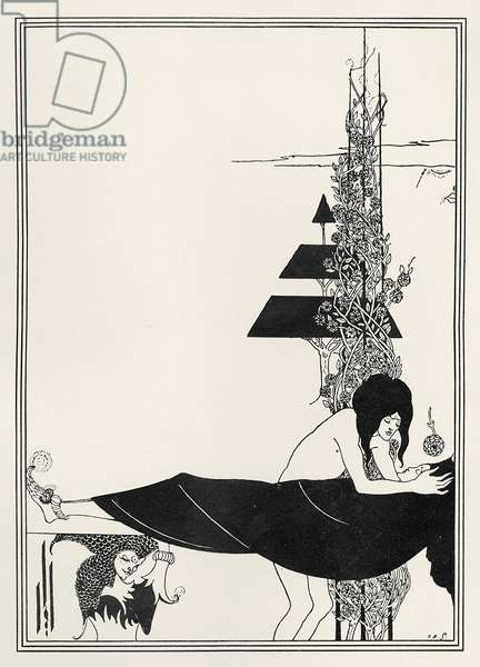 The Platonic Lament, illustration from 'Salome' by Oscar Wilde, 1894 (litho)