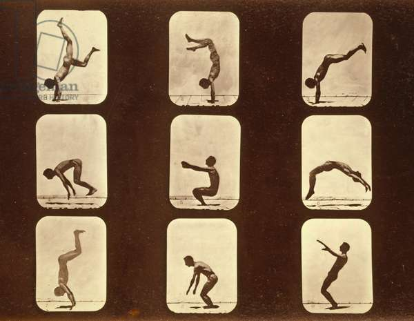 Athletes. Irregular from 'Animal Locomotion' series, c.1881 (b/w photo)