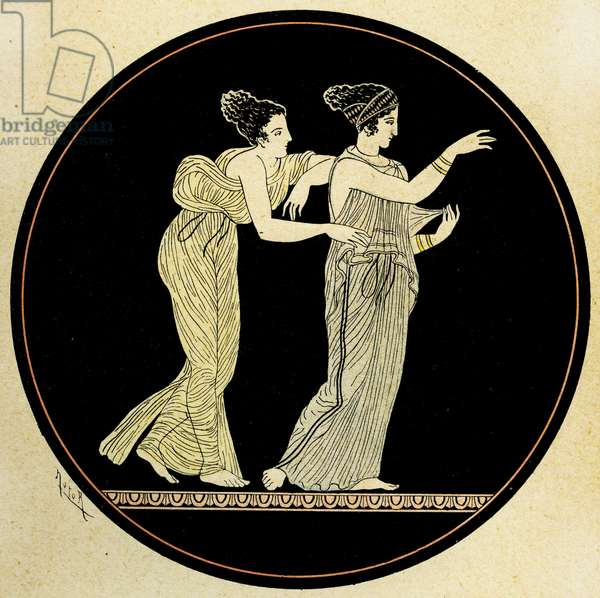 Tho Athenian Women, Illustration from Notor's Lysistrata,  1898 (litho)