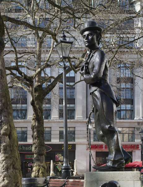 Sir Charlie Chaplin by John Doubleday, Leicester Square (photo)