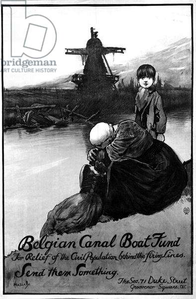Belgian Canal Boat Fund, World War One poster (litho)