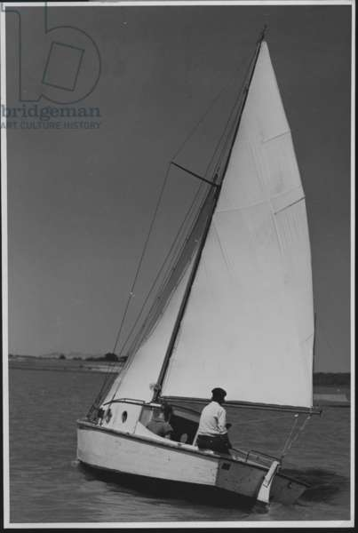 Sailboat Moving Away, 1935-36 (b/w photo)