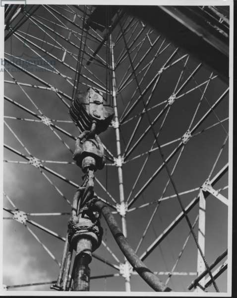East Texas Oil Field Rigging, 1935-36 (b/w photo)