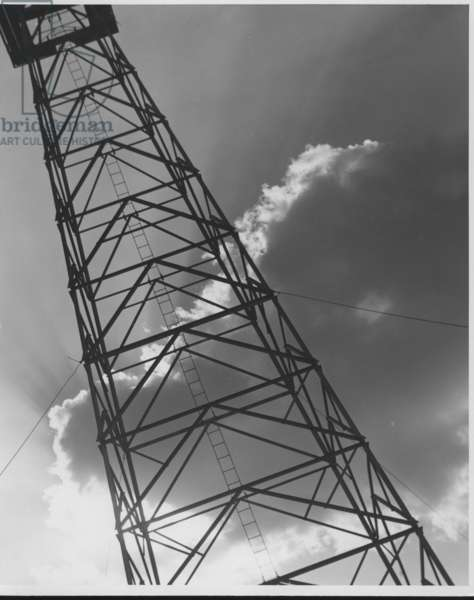 Oil Derrick Against Cloud, Texas, 1935-36 (b/w photo)
