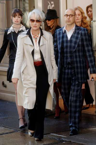Le Diable s'habille en Prada THE DEVIL WEARS PRADA by DavidFrankel with Anne Hathaway, Meryl Streep and Stanley Tucci 2006 (photo)