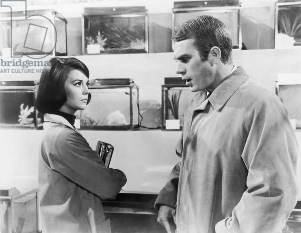 Natalie Wood and Steve McQueen in
