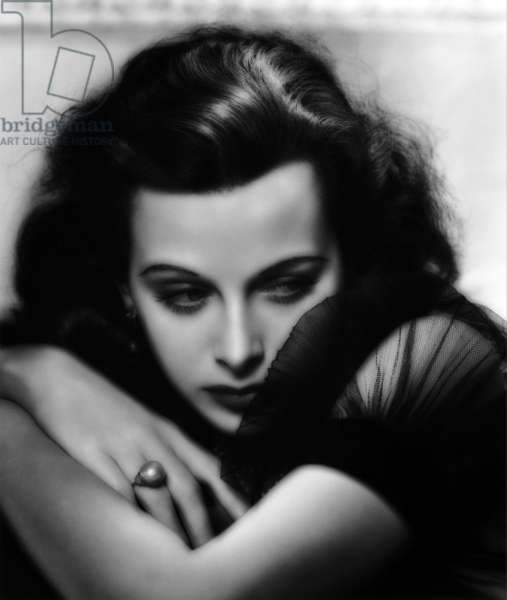 HEDY LAMARR (b/w photo)