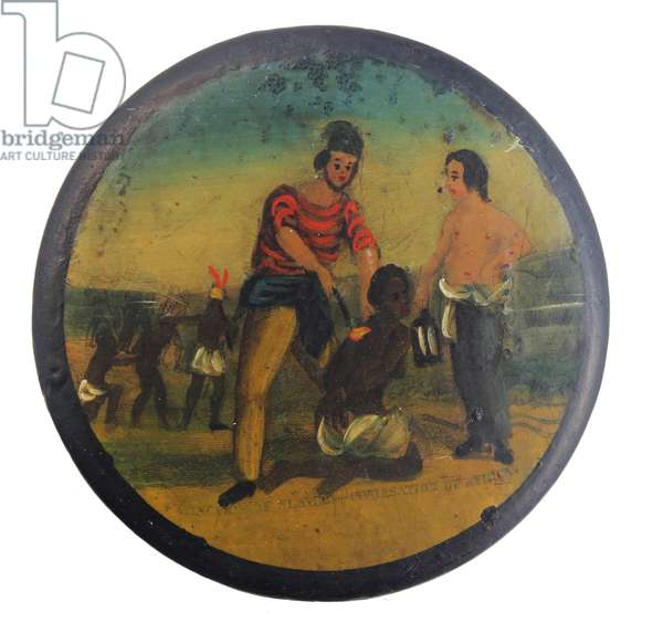 Snuff box from the early 19th Century with anti-slavery theme