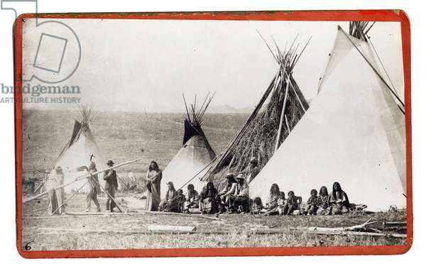 Shoshone Chief Washakie and Tepees c.1881