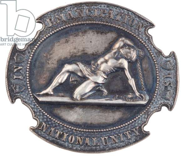 Silver Pro Lincoln Emancipation Badge circa 1862