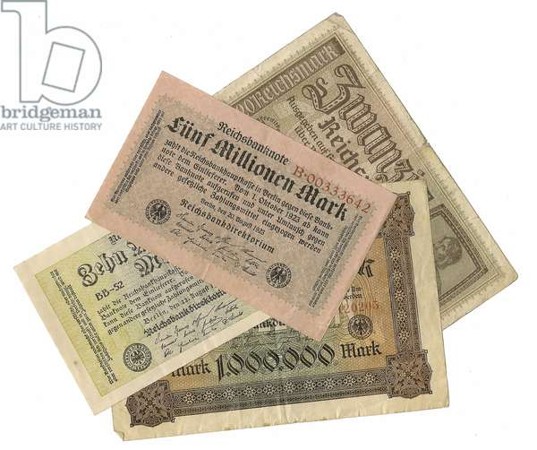 Germany, Weimar Republic, Reichsbank Hyperinflation Currency Notes