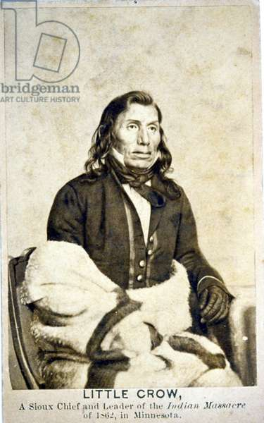 Little Crow, A Sioux Chief and leader of the Indian massacre of 1862 in Minnesota