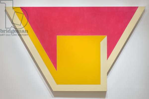 Union I, 1966 (alkyd fluorescent & epoxy paints on canvas)