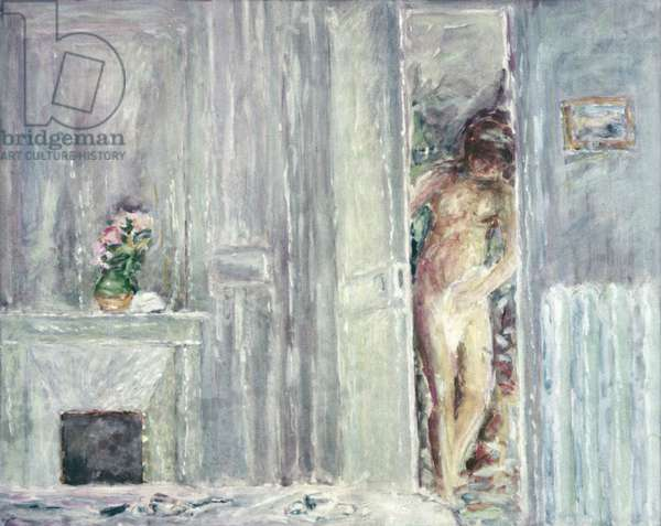 Nude in the room, by Pierre Bonnard, c. 1925, 20th Century, watercolor and gouache, 33 x 48 cm