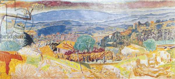 Cannet Landscape (Paysage du Cannet), by Pierre Bonnard, 1928, 20th Century, oil on canvas, 123 x 275 cm