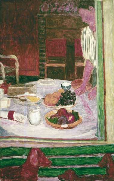 Fruit and Dogs, by Pierre Bonnard, 1926, 20th Century, oil on canvas, 98 x 63 cm