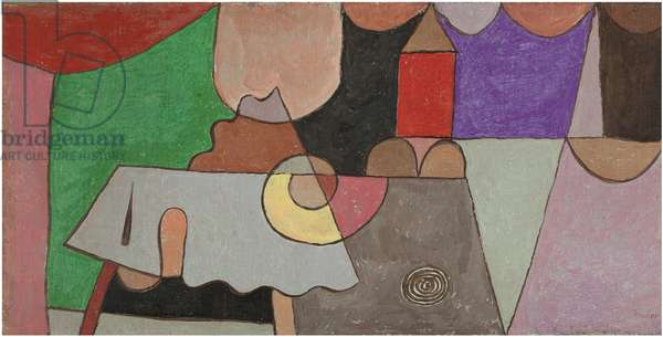 Castle Corner (Burgwinkel), by Paul Klee, 1932, oil on canvas on cardboard, 30.5 x 60 cm
