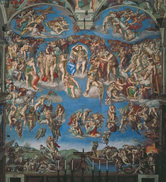Sistine Chapel (Cappella Sistina), by Michelangelo Buonarroti, 16th Century, fresco (post restoration)