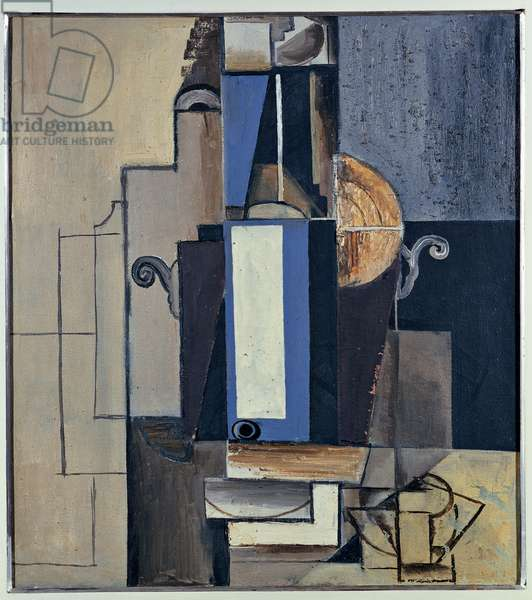 Cubist Composition, 1913 (canvas)