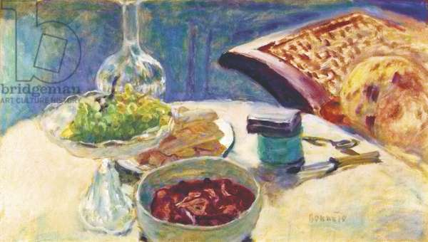 Still Life with Figure, by Pierre Bonnard, 1912, 20th Century, oil on canvas, 42 x 73 cm
