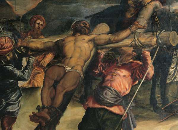 Crucifixion (Crocifissione), by Jacopo Robusti known as Tintoretto, 1564 - 1565, 16th Century, oil on canvas, 536 x 1224 cm