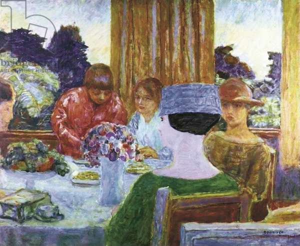 Tea (Le Thè), by Pierre Bonnard, 1917, 20th Century, oil on canvas, 67.5 x 80 cm