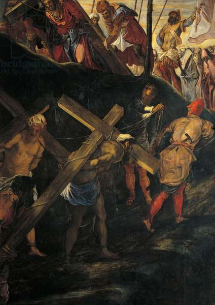 The Ascent to Calvary (La salita al calvario), by Jacopo Robusti known as Tintoretto, 1565 - 1567, 16th Century, oil on canvas, 515 x 390 cm