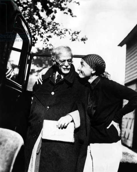 Alfred Stieglitz, and his wife, Georgia O'Keeffe, 1936