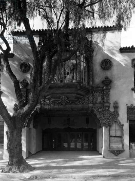 The exterior of the Hollywood Playhouse, Hollywood, California, c.1927.