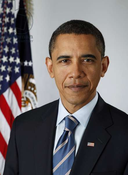 Official portrait of President Barack Obama taken on or before Feb. 20 2009. (BSWH_2011_8_368)