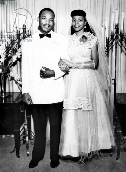 Martin Luther King and Coretta Scott on their wedding day, June 18, 1953