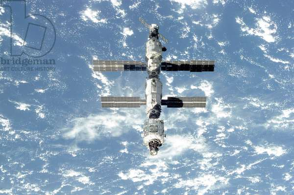The International Space Station is seen from the Space Shuttle Atlantis. Sept. 18, 2000