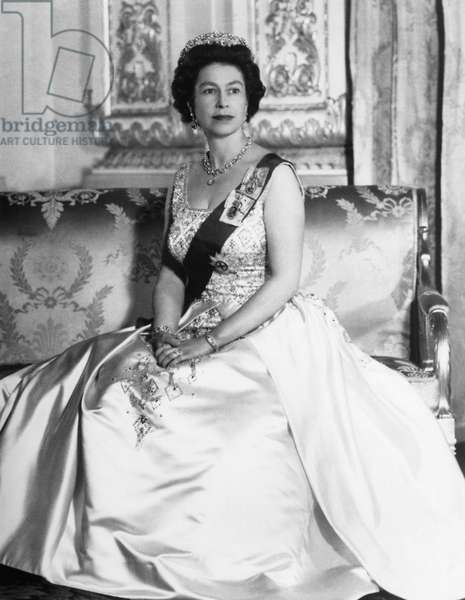 British Royalty. Queen Elizabeth II of England, Buckingham Palace, London, England, c.late 1960s