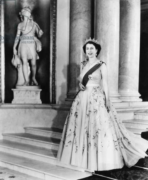 British Royalty. Queen Elizabeth II of England, c.mid-1950s