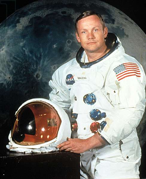 NEIL ARMSTRONG, Apollo 11 mission portrait, July, 1969.